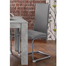 HOMEXPERTS chaise de salle à manger Nitro, lot 6, (2 ou 6 pièces), avec couvertureen simili cuir