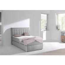 INOSIGN Lit boxspring Sagres, Tête de lit avec passepoil bicolore et boutons bicolores,y compris plusieurs modèles mousse froide 2 couleurs