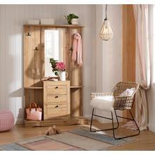 HOME AFFAIRE garde-robe compacte Norma, avec miroir et de nombreuses étagères