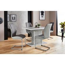 HELA ensemble de salle à manger Alice G, lot 5, composé 4 chaises Ornella sans accoudoirs et la table avec fonction dépliante