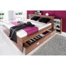 BRECKLE lit futon, avec étagères extensibles dans la tête de