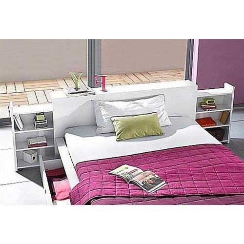 BRECKLE futonbed, Met uittrekbare rekken in het hoofdbord